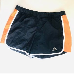 Adidas Orange Black White Running Athletic Shorts